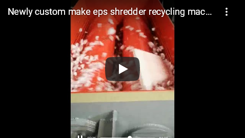 two shaft styrofoam shredder
