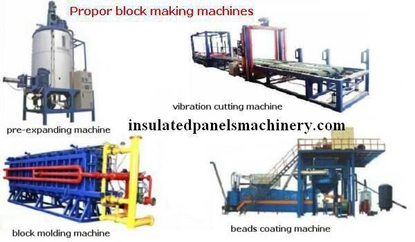 eps foam block making machines