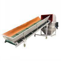 Double shaft EPS shredder with conveyor for recycling EPS foam waste