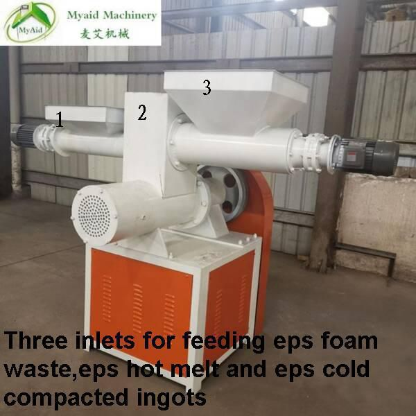 eps pellet machine for recycling all eps waste